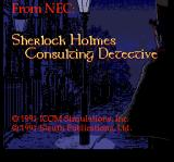 Sherlock Holmes: Consulting Detective TurboGrafx CD Title screen