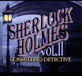 Sherlock Holmes Consulting Detective: Volume II TurboGrafx CD Title screen
