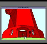 The Manhole TurboGrafx CD Right. The hydrant turns into a giant house