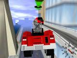 Matchbox: Emergency Patrol Windows Flying past train tracks in the fire engine