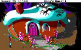 Roberta Williams' King's Quest I: Quest for the Crown DOS Hmmm, a candy house... (EGA)