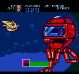Captain America and the Avengers Genesis The third boss is a giant mechanical octopus.
