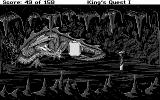 Roberta Williams' King's Quest I: Quest for the Crown DOS A dragon is here! (CGA)