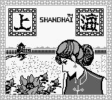 Shanghai Game Boy Title Screen