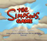 The Simpsons Game PlayStation 2 Title screen.