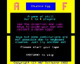 Chuckie Egg BBC Micro Basic instructions
