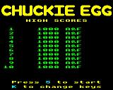Chuckie Egg BBC Micro Title page