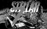 Stellar 7 DOS Title screen (CGA black and white mode)