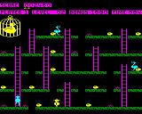 Chuckie Egg BBC Micro Level 2 with an extra goose patrolling the level