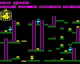 Chuckie Egg BBC Micro Level 3 contains lifts to jump on