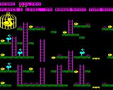 Chuckie Egg BBC Micro Level 5 another tricky layout with 3 geese patrolling just the left side of the level.