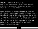 Planetfall TRS-80 Game intro