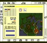 A-Train TurboGrafx CD Map and diagrams together