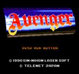 Avenger TurboGrafx CD Title screen