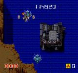 Avenger TurboGrafx CD Even those large weapon stations can be destroyed