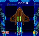 Avenger TurboGrafx CD My laser weapon is powered up. Now I can defeat this boss...