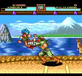 Kabuki Ittōryōdan TurboGrafx CD Fighting Push Fujiyama on his grounds. That's... unwanted physical contact :)