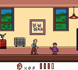 Tintin: Le Temple du Soleil Game Boy Color The kid hurts Tintin with its jo-jo.