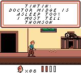 Tintin: Le Temple du Soleil Game Boy Color Another member of the expedition was struck with the mysterious illness.