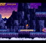 The Legend of Xanadu TurboGrafx CD High-level side-scrolling stage