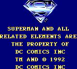 Superman: The Man of Steel Game Gear Copyright