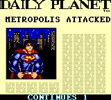 "Superman: The Man of Steel Game Gear ""Metropolis attacked"" and they show a picture of Superman...Is HE the aggressor?"