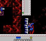 Superman: The Man of Steel Game Gear It takes many, many punches to break this wall.