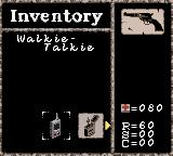 Alone in the Dark: The New Nightmare Game Boy Color Inventory