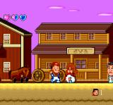 "Bakushō: Yoshimoto no Shinkigeki TurboGrafx CD Old West town. Again, I find a ""fitting"" disguise"