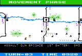 Panzer Grenadier Apple II Moving troops into 3 groups advancing on each bridge