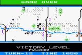 Panzer Grenadier Apple II Game over - Major victory the highest level