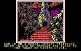 The Crack of Doom DOS You play the role as Sam the Hobbit, alone at the tower of Cirith Ungol (EGA)