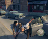 Mafia II Windows ...which is drag a poor innocent old man out of his car?? Come on, Vito, I understand you were in prison, but you are... err... over-reacting. Take a pill or something