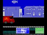 Mailstrom ZX Spectrum Use bomb on post box. Get contents, proceed
