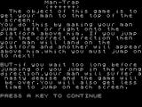 Man Trap ZX Spectrum A helpful description of the game