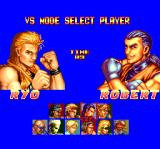Art of Fighting TurboGrafx CD Vs. mode. Player select