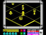 Mantronix ZX Spectrum Start of the game - the screen color varies depending on sector