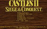 Castles II: Siege & Conquest DOS Game Options