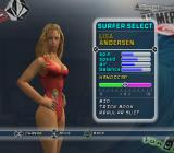 Kelly Slater's Pro Surfer PlayStation 2 Surfer selection.