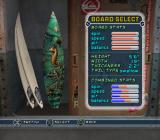 Kelly Slater's Pro Surfer PlayStation 2 Board selection.