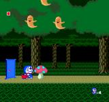 Doraemon: Nobita no Dorabian Night TurboGrafx CD Dark forest, ghosts, and giant mushrooms...