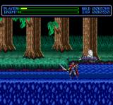 Exile: Wicked Phenomenon TurboGrafx CD Sadler fights giant flies in a forest