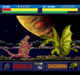 Godzilla TurboGrafx CD Ghidorah attacks me, with a beautiful planet in sight