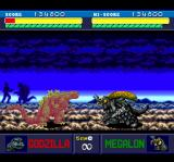 Godzilla TurboGrafx CD Pesky Megalon. Again, note the battle on the background