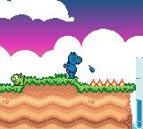 Das Geheimnis der Happy Hippo-Insel Game Boy Color Spitting a load of water to put out a fire