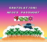 Das Geheimnis der Happy Hippo-Insel Game Boy Color Password screen