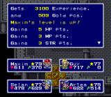 Lufia & the Fortress of Doom SNES Leveling up