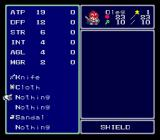 Lufia & the Fortress of Doom SNES Equipping the hero