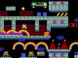 Rainbow Islands TurboGrafx CD My rainbows are the only colorful spot in these dark levels...