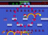 Rainbow Islands TurboGrafx CD Super-attack that kills all enemies. You know why there are no enemies on this screenshot? BECAUSE I KILLED THEM ALL WITH A SUPER-ATTACK!!..